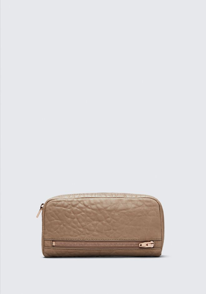 ALEXANDER WANG accessories FUMO CONTINENTAL WALLET IN LATTE WITH ROSE GOLD