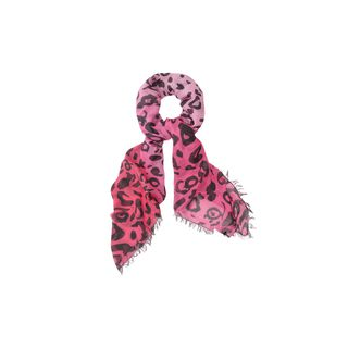 McQ, Scarf, Bleached Animal Print Scarf