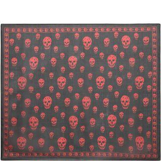 ALEXANDER MCQUEEN, Silk Scarf, Classic Silk Chiffon Skull Scarf
