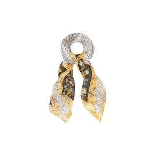 ALEXANDER MCQUEEN, Pashmina Fashion Scarf, Dragonfly and Petal God Save McQueen Pashmina