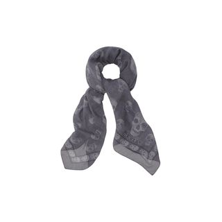 ALEXANDER MCQUEEN, Men's Scarf, Dogtooth Multi-Skull Scarf