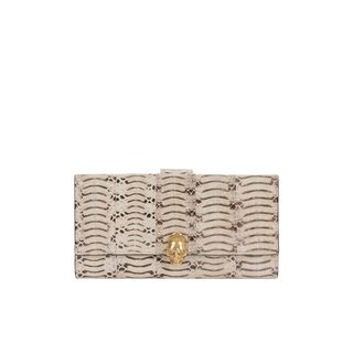 ALEXANDER MCQUEEN, Wallet, Skull Charm Tiger Snakeskin Wallet