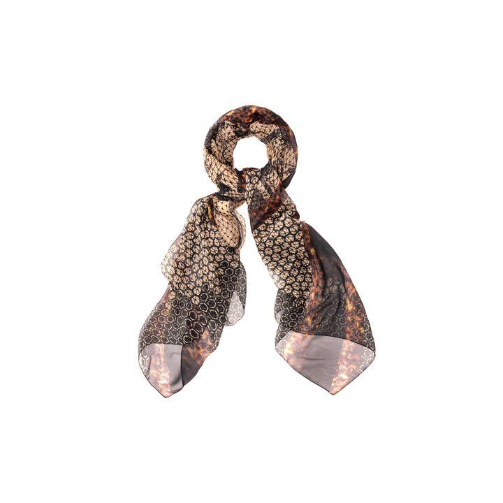 Alexander McQueen, Honeycomb & Tortoiseshell Print God Save McQueen Silk Scarf