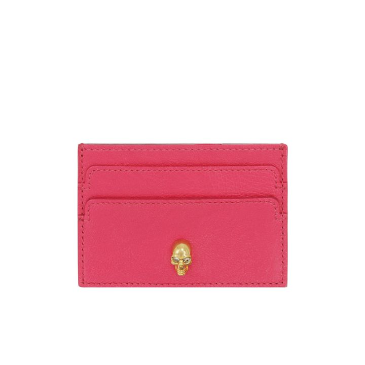 Alexander McQueen, Skull Charm Leather Card Holder