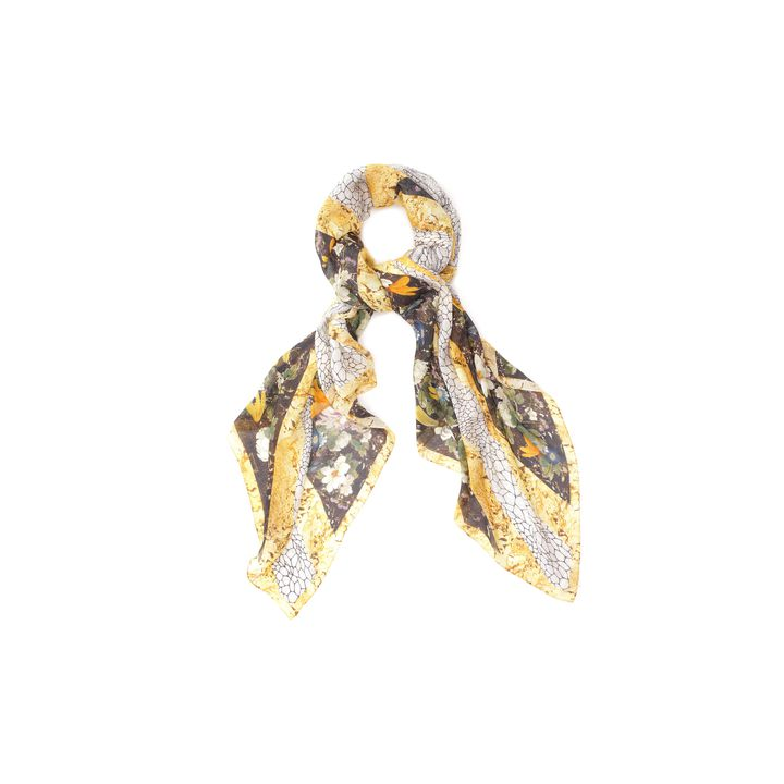 Alexander McQueen, Dragonfly and Petal God Save McQueen Silk Scarf