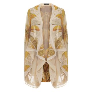 ALEXANDER MCQUEEN, Silk Top, Dragonfly Wing Cape