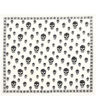 ALEXANDER MCQUEEN, Pashmina Scarf, Classic Silk Blend Skull Scarf