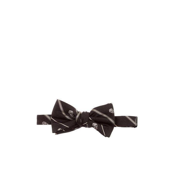 Alexander McQueen, Stripe-Skull Bow-Tie