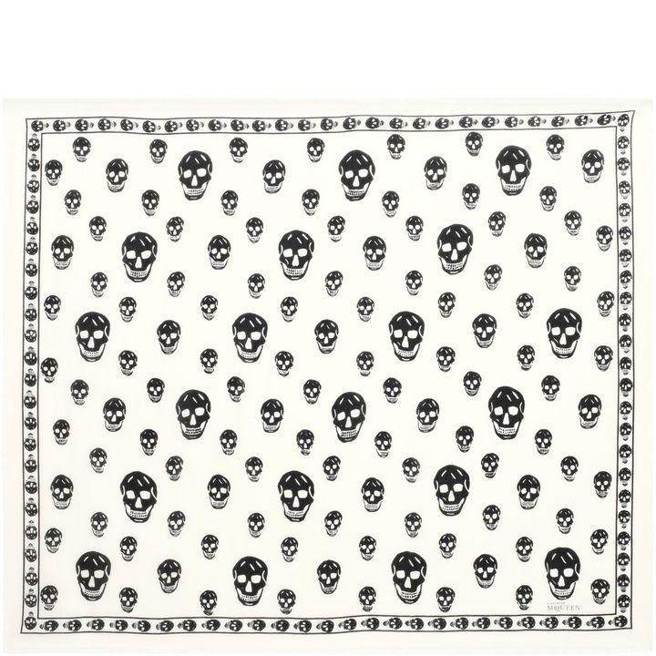 Alexander McQueen, Foulard classique Skull en mélange soie