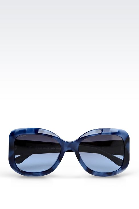 ACETATE SUNGLASSES WITH SQUARE LENSES: sun glasses Women by Armani - 1