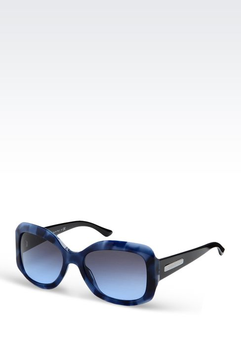 ACETATE SUNGLASSES WITH SQUARE LENSES: sun glasses Women by Armani - 2