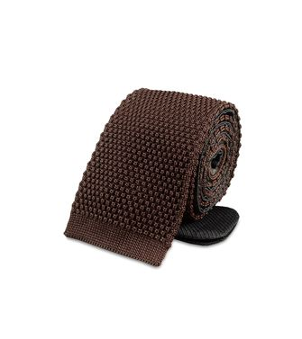 ERMENEGILDO ZEGNA: Tie Black - Dark brown - 46303496EA