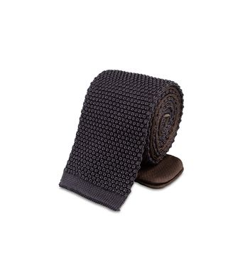 ERMENEGILDO ZEGNA: Tie Black - Dark brown - 46303496GA