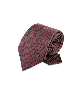 ERMENEGILDO ZEGNA: Cravate Bordeaux - Gris - Anthracite - Marron - Moka - 46303503AO