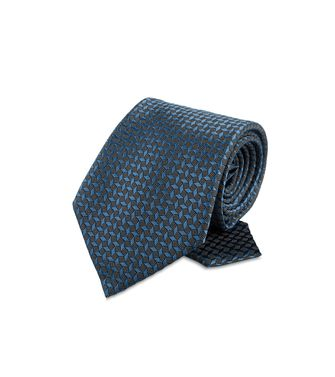 ERMENEGILDO ZEGNA: Tie Black - Blue - 46303503AS