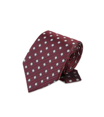 ERMENEGILDO ZEGNA: Tie Black - Red - Maroon - Blue - Grey - Ivory - Slate blue - Dark brown - 46303503OG