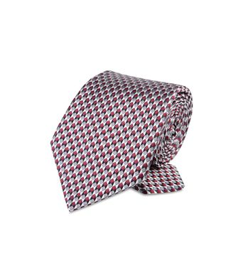 ERMENEGILDO ZEGNA: Tie Red - Maroon - Grey - Ivory - Slate blue - Dark brown - 46303503PB