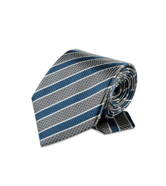 ERMENEGILDO ZEGNA: Tie Black - Red - Maroon - Blue - Grey - Ivory - Slate blue - Dark brown - 46303503WL