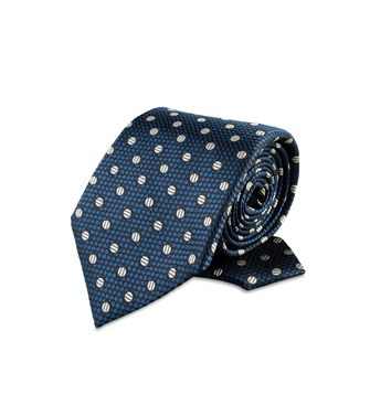 ERMENEGILDO ZEGNA: Tie Black - Red - Maroon - Blue - Grey - Ivory - Slate blue - Dark brown - 46303503WQ