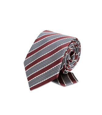 ERMENEGILDO ZEGNA: Tie Maroon - Grey - Steel grey - Brown - Dark brown - 46303503XW