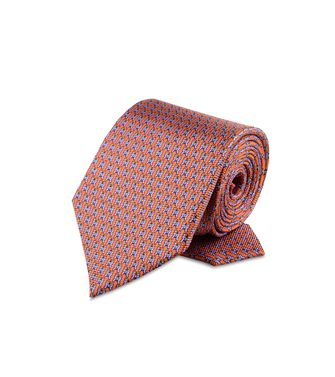 ERMENEGILDO ZEGNA: Cravate Orange - Mauve - Bleu ciel - 46303507FF