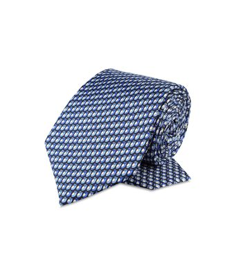 ERMENEGILDO ZEGNA: Tie Red - Maroon - Blue - Grey - Light grey - Steel grey - Ivory - 46303507ML