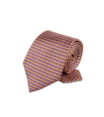 ERMENEGILDO ZEGNA: Tie Red - Maroon - Blue - Grey - Light grey - Steel grey - Ivory - 46303507PF