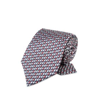 ERMENEGILDO ZEGNA: Cravate Rouge - Bordeaux - Gris - 46303508DF