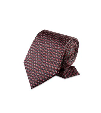 ERMENEGILDO ZEGNA: Cravate Rouge - Bordeaux - Gris - 46303508FC