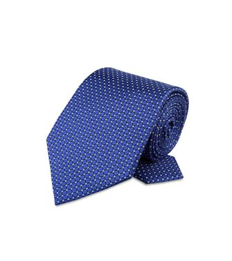 ERMENEGILDO ZEGNA: Cravate Orange - Bleu - Rouille - 46303511FK
