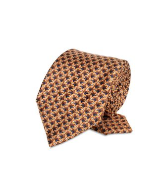 ERMENEGILDO ZEGNA: Tie Orange - Blue - Rust - 46303511SW