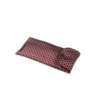 ERMENEGILDO ZEGNA: Silk accessory Maroon - Blue - Steel grey - 46303512FE