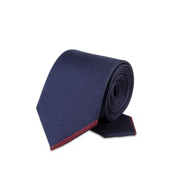 ZZEGNA: Tie Maroon - Blue - Steel grey - 46303518TF
