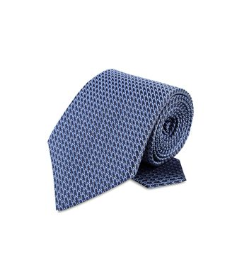 ERMENEGILDO ZEGNA: Tie Black - Red - Maroon - Blue - Grey - Ivory - Slate blue - Dark brown - 46303521GM