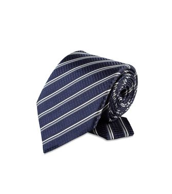 ERMENEGILDO ZEGNA: Tie Black - Red - Maroon - Blue - Grey - Ivory - Slate blue - Dark brown - 46303521JW