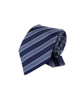 ERMENEGILDO ZEGNA: Tie Black - Red - Maroon - Blue - Grey - Ivory - Slate blue - Dark brown - 46303521NW