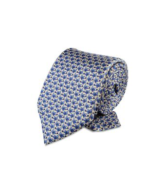 ERMENEGILDO ZEGNA: Tie Orange - Blue - Rust - 46303522XI