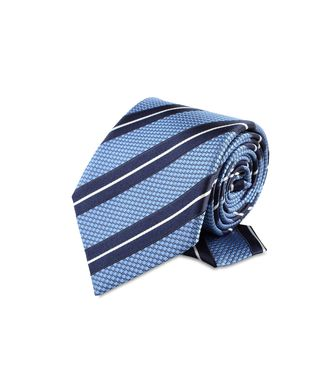 ERMENEGILDO ZEGNA: Tie Orange - Blue - Rust - 46303524JF