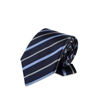 ERMENEGILDO ZEGNA: Tie Black - Red - Maroon - Blue - Grey - Ivory - Slate blue - Dark brown - 46303524XG