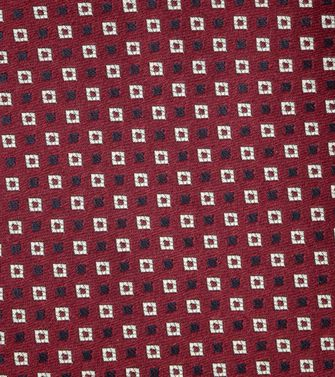 ERMENEGILDO ZEGNA: Tie Red - Grey - Ivory - Slate blue - Dark brown - 46303526DA