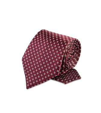 ERMENEGILDO ZEGNA: Tie Red - Maroon - Grey - Ivory - Slate blue - Dark brown - 46303526DA