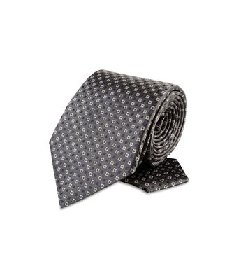 ERMENEGILDO ZEGNA: Tie Black - Red - Maroon - Blue - Grey - Ivory - Slate blue - Dark brown - 46303526GL