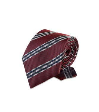 ERMENEGILDO ZEGNA: Tie Red - Maroon - Grey - Ivory - Slate blue - Dark brown - 46303526LD