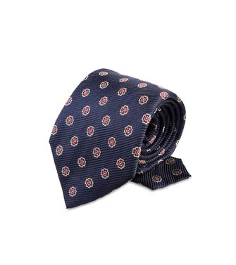 ERMENEGILDO ZEGNA: Tie Black - Red - Maroon - Blue - Grey - Ivory - Slate blue - Dark brown - 46303526PQ