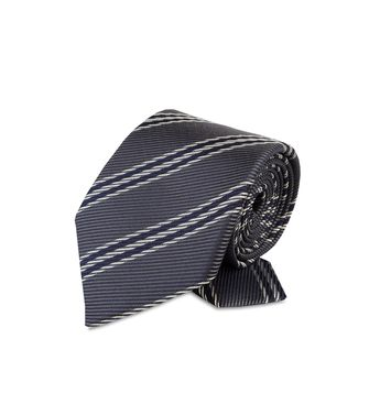 ERMENEGILDO ZEGNA: Tie Black - Red - Maroon - Blue - Grey - Ivory - Slate blue - Dark brown - 46303526SN
