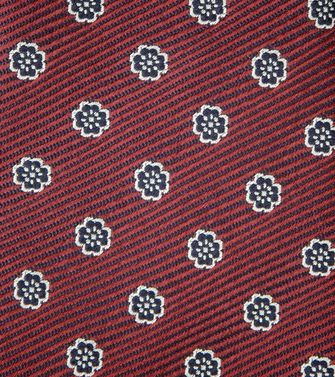 ERMENEGILDO ZEGNA: Tie Red - Maroon - Grey - Ivory - Slate blue - Dark brown - 46303526UA
