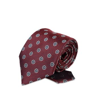 ERMENEGILDO ZEGNA: Tie Maroon - Grey - Steel grey - Brown - Dark brown - 46303526UA