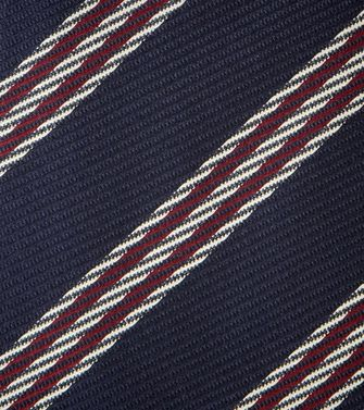 ERMENEGILDO ZEGNA: Tie Black - Red - Maroon - Blue - Grey - Ivory - Slate blue - Dark brown - 46303526UC