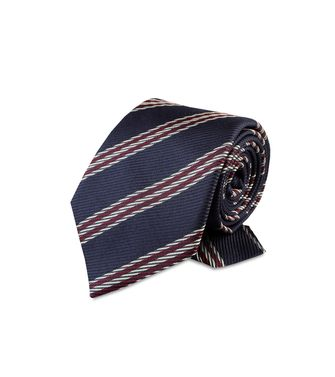 ERMENEGILDO ZEGNA: Tie Red - Grey - Ivory - Slate blue - Dark brown - 46303526UC