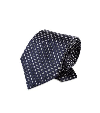 ERMENEGILDO ZEGNA: Tie Black - Red - Maroon - Blue - Grey - Ivory - Slate blue - Dark brown - 46303526VA